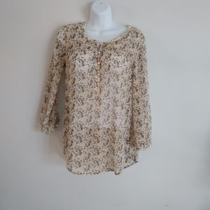 Lucky Brand Foral Print light weight blouse